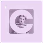 Icône du calendrier de l'avent à l'effigie de Charlie Chaplin.