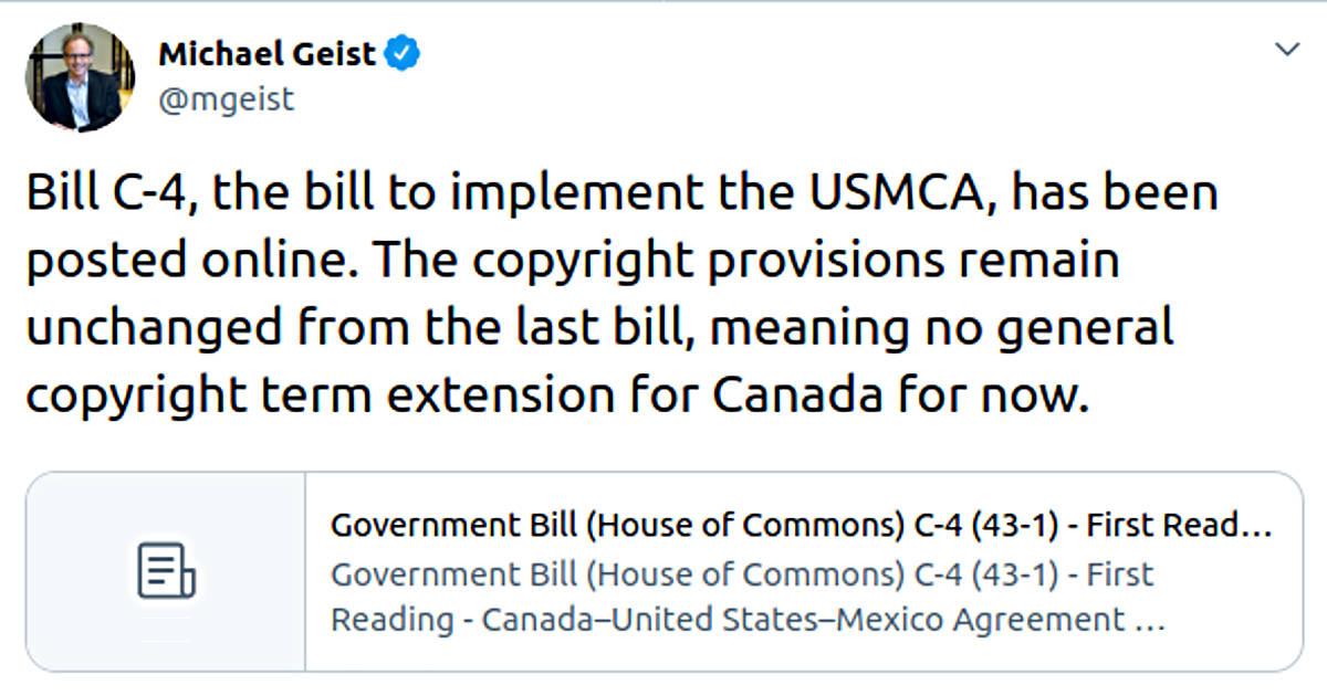 Projet de loi C-4 : Des bonnes nouvelles pour le domaine public canadien ?