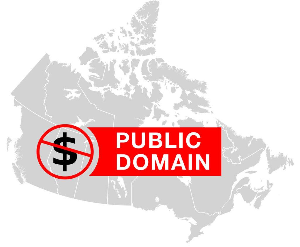 Carte du Canada avec logo du domaine public